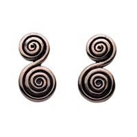 Viking Earrings - characteristic pattern used in jewelry during Nordic antiquity.